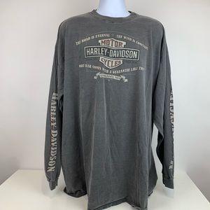 Harley Davidson L/S T-Shirt 3XL Gray Florence KY